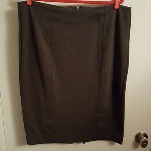 18W Cato Heather Gray Skirt